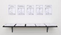 Lawrence Abu Hamdan, Conflicted Phonemes, Vinyl Wall print 208cm x 300cm, 9 A4 vinyl wall prints, 2012
