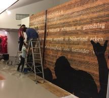 Burning Museum installs their work Straatpraatjies at Framer Framed, 2016