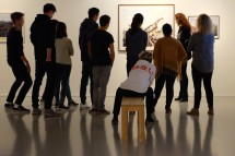 Face to Face students get a tour of exhibition Re(as)sisting Narratives