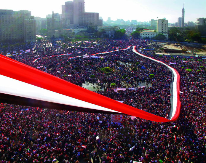 Lara Baladi - The Friday of Victory after Hosni Mubarak's fall Tahrir Square Cairo Egypt. Part of 'Vox Populi""