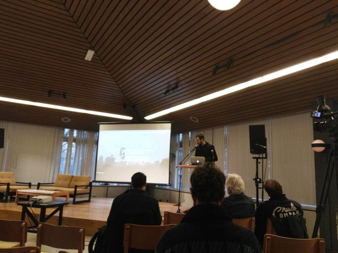 Ian Alan Paul presenting his work