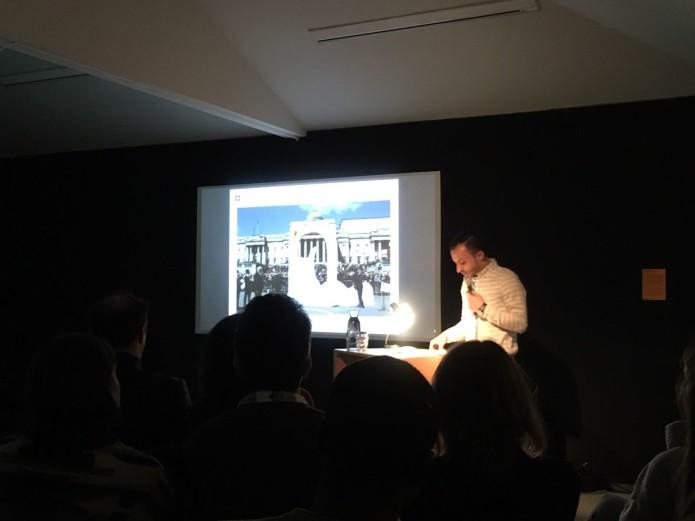 Nour Munawar presenting his lecture