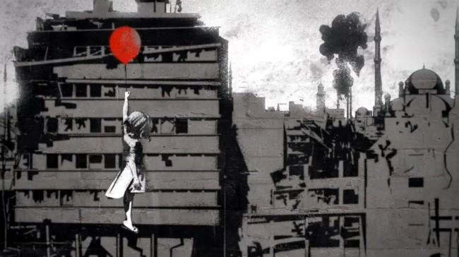 Banksy staat stil bij drie jaar oorlog in Syrië