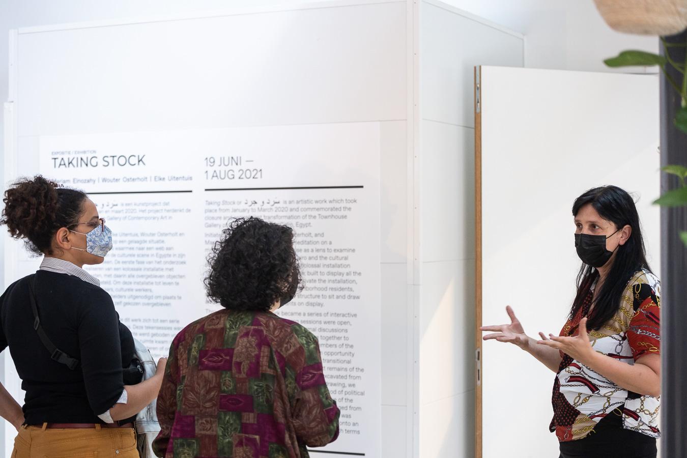 Exhibition opening Taking Stock (2021), at Framer Framed
